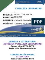 UTPL-ESTÉTICA Y BELLEZA LITERARIAS-I-BIMESTRE-(OCTUBRE 2011-FEBRERO 2012)