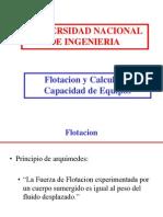 9. J. Diaz - Flotacion y Calculo de Capacidad de Equipo