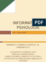 Informatica Si Psihologie Titi Paraschiv