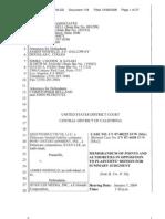 belland adv qed memo of points authorities  op msj_