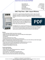 Digital Geyser Timer 24H 7 Day Timer 230V Brochure