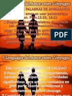 LENGUAJE DEL AMOR Y NIVELES DE COMUNICACIÓN MATRIMONIAL