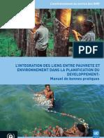 L'Integration des liens entre pauvreté et environnement dans la planification du développement