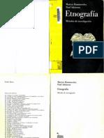 Etnografía Métodos de Investigación