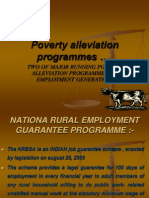Poverty Alleviation Programmes