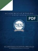 2013-2014 SES Catalog