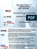 MSC Malaysia Creative Innovation & Incubation Center Facility & Services