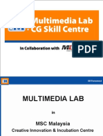 Multimedia Lab & CG Skill Centre of MSC Malaysia Creative Innovation Center