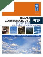 Balance de la Conferencia de Durban