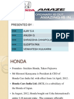 A case study on Honda Amaze