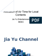 Allocation of Air Time for Local Contents