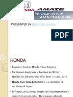 Honda Amaze Marketing Analysis