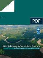 Ficha de Puntaje de Sostenibilidad Financiera