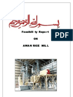 Feasibility Report of Awan Rice Mill