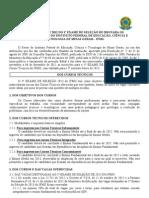 Edital Nº 027 de Cursos Tecnicos 2013_1