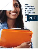 Condition of College & Career Readiness 2013