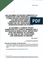 Es Colombia Un Estado Corrupto