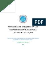 Acoso Sexual en Servicio de Transporte Publico, Guayaquil- Metrovia (PARTE LEGAL)
