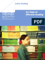 Six Steps to Effective Reading
