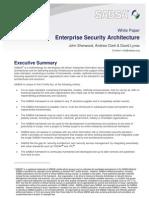 Enterprise Security Architecture - SABSA White Paper 2009