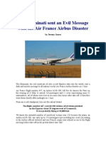 Evil Illuminati Message via Air France