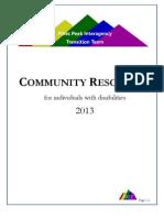 PPITT 2013 Community Resources Directory