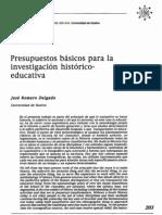 ROMERO DELGADO, José. Presupuestos básicos para la investigación histórico-educativa