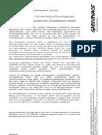 Presseerklärung vom 21.08.2013 Klimafreundlicher Schulanfang mit Recyclingpapier!