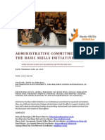 Administrative Commitment to BSI