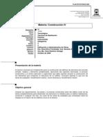 Programa Construccion IV