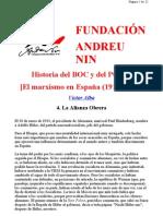 Historia del BOC y del POUM. Víctor Alba