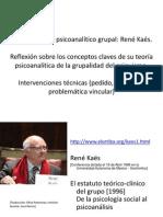 El pensamiento psicoanalítico grupal René Kaës.   APPIA FL 2013.ppt animation