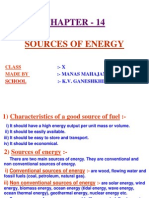 14 Sources of Energy