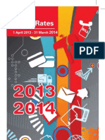 Post Office Rates Brochure (1 April 2013-31 March 2014) of South Africa