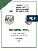 Informe Final Congreso