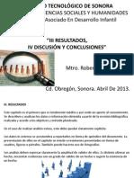 III-IV Resultados, Discusion y Conclusiones