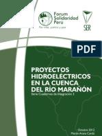 PROYECTOS HIDROELECTRICOS CUENCA RIO MARAÑON FSP SER 2012