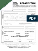 Rebate Form
