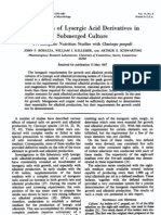 Production of Lysergic Acid Derivatives in a Submerged  Culture