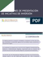 INSTRUCCIONES DE PRESENTACIÓN DE INICIATIVAS DE INVERSIÓN