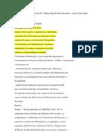 DOE Perfil Habilidades e Bibliografia Para Concursos Estado Sp