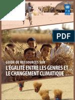 Guide de ressources sur l'égalité entre les genres et le changement climatique