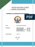 Informe de Elaboracion de Bloquetas