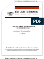 Civic Federation Analysis CPS FY2014 Budget