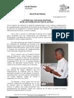 19/08/13 Germán Tenorio Vasconcelos mantiene Sso, Vigilancia Sanitaria en Mil 499 Farmacias en Todo El Estado