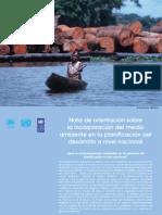 Nota de orientación sobre  la incorporación del medio  ambiente en la planificación del  desarrollo a nivel nacional