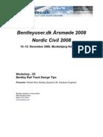 Bentley Rail Track Design Tips