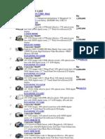 Camcorder MiniDV List