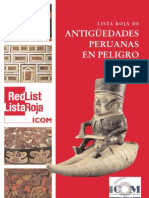Lista roja de antigüedades peruanas en peligro