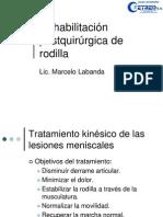 Rehabilitación kinésica de rodilla